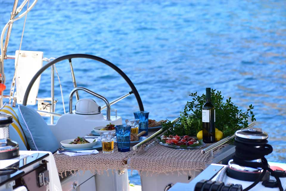 CTS Family Sailing Holidays Greece Adults food
